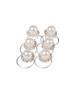 Hårsmykke Spiral Perle m/krystaller