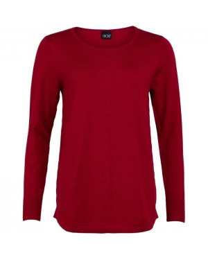 Knit Pullover   Red  
