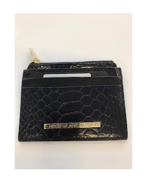 Wallet croco black
