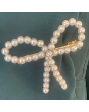 Sløyfespenne - Perler