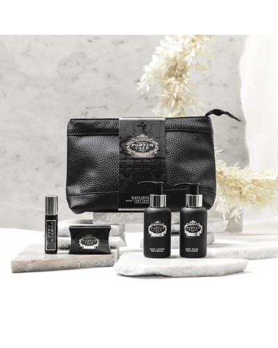 Portus Cale Black Travel Set